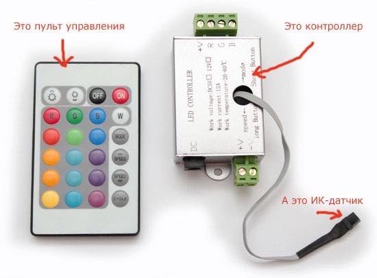 Лед- контроллер с пультом дистанционного управления