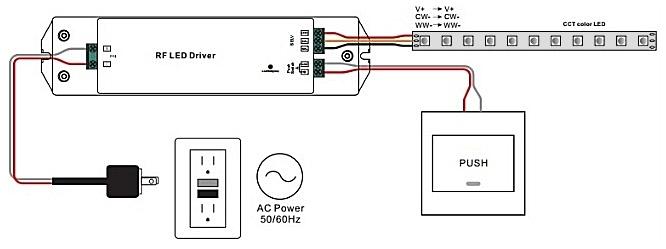 схема включения драйвера-контроллера SUNRICHER SRP-1009-12-50W-CVT